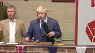 Shows interior shots Conservative MP and 'Out' Campaigner Boris Johnson answering questions from farmers on EU Regulations and farmers subsidies on...