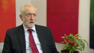 Shows interior shots interview soundbite UK Labour Party Leader Jeremy Corbyn speaking on reaction to Theresa May's Florence Brexit speech QUOTE 'We...