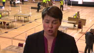 Shows interior shots interview soundbite with Scottish Conservative Leader Ruth Davidson speaking on UK General Election result and 'death' of second...