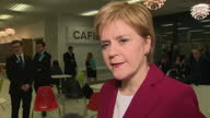 Shows interior shots interview soundbite with SNP Leader Nicola Sturgeon speaking on UK General Election 2017 result UK General Election 2017 A huge...