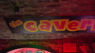 Shows interior shots names on the wall of the Cavern Club along with venue signage the cloakroom where Cilla Black once worked on August 02 2015 in...