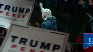Shows interior shots President Elect Donald Trump waving to crowd from stage following speech Presidentelect Donald Trump held a raucous rally in...