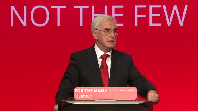 Shows interior shots speech soundbite from Shadow Chancellor John MCDonnell speaking on credit card debt QUOTE 'so i am calling on the government to...