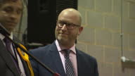 Shows interior shots UKIP Leader Paul Nuttall at Boston and Skegness Constituency declaration where he failed to win the seat on 9th June 2017 in...