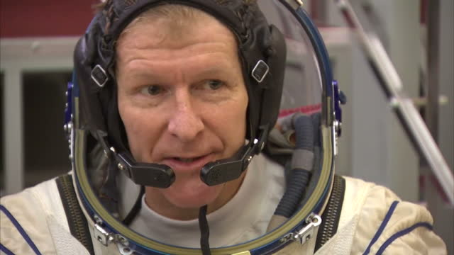 Shows Interior shots UK's ESA Astronaut Tim Peake Soundbite on preparing for mission to International Space Station Tim Peake trains at Star City...