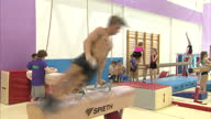 Shows interior shots young children training and practising gymnastics in South Essex Gymnastics Club the home club of Olympic Champion Max Whitlock...