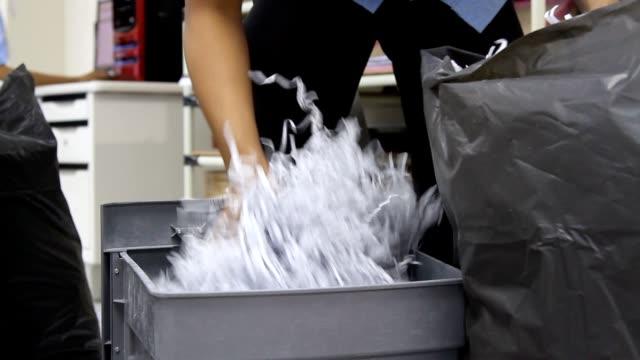 Shredded Document Paper in office