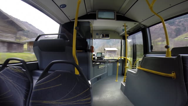 POV of Shuttle bus on its way to the ski resort.  - Time-Lapse - filmed in Kaprun, Austria, Europe