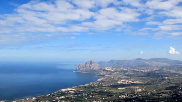 Sicily coastline, aerial view.
