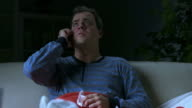 HD DOLLY: Sick Man On The Phone At Night