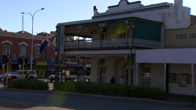 MS SLO MO Side POV Driving through town / Coolgardie and Kalgoorlie, Western Australia, Australia