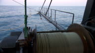 CU Side POV Shot of wheel pooling rope / Northern Territory, Australia