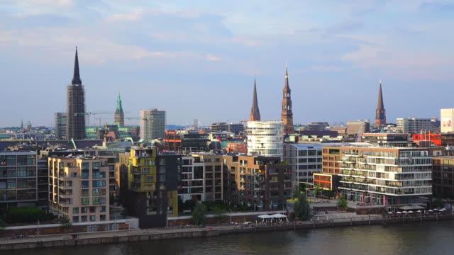 WS Side POV View of Hafencity / Hamburg, Germany
