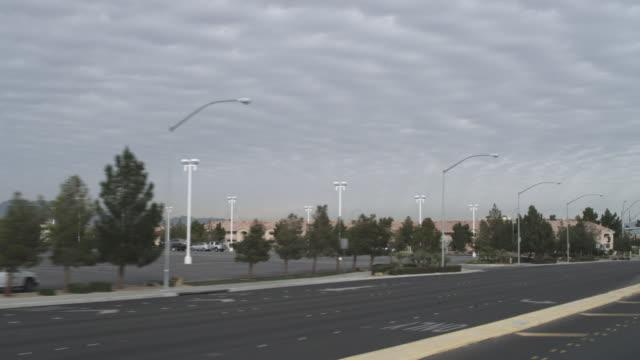 WS Side POV View of Residential road / Las Vegas, Nevada, United States