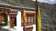 A side view of  the Rizong Buddhist Monastery in Ladakh, India