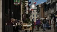 Side Walk Cafe In Rue Saint Paul In Old Montreal