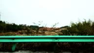 Sideview auf dem highway running Auto, Zeitraffer