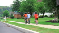 Marciapiede in bicicletta