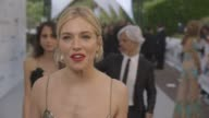 INTERVIEW Sienna Miller on amfAR first time at the event raising lot's money at amfAR 22nd Cinema Against AIDS Gala Presented By Bold Films And Harry...