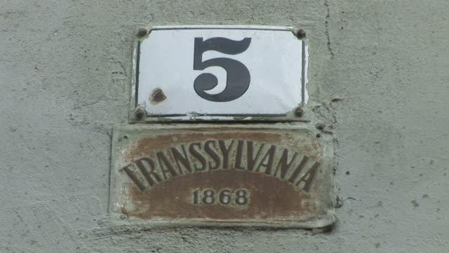 SighisoaraTransylvania Sign in Romania