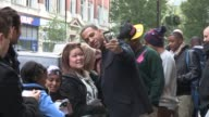 JLS sighted after appearing on the Radio One breakfast show JLS at BBC Studios on October 16 2012 in London England