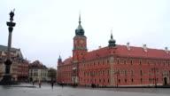 Sigismondo colonna, la città vecchia, Varsavia, Polonia