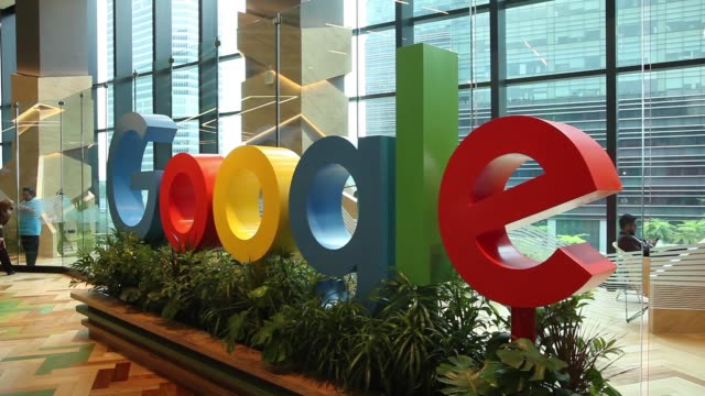 A sign featuring Google Inc's logo stands at the company's Asia Pacific headquarters during its opening day in Singapore on Thursday Nov 10 Google...