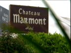 Sign for Chateau Marmont Sunset Strip Los Angeles