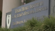 Sign for the Texas Heart Institute at St Luke's Episcopal Hospital, Houston.