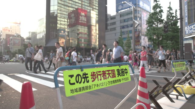 Sign of Akibahara Pedestrian Area. Tokyo, Japan