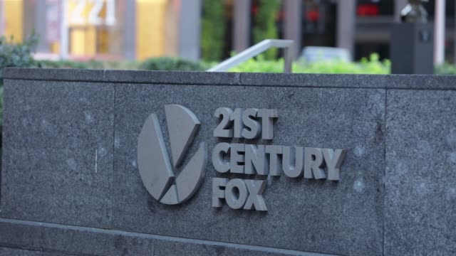 A sign outside the 21st Century Fox headquarters in New York Wednesday May 3 2017 Shots shot of 21st century fox sign wider shot of same subject...