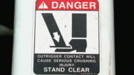 CU Sign that reads 'Danger Stand Clear' / Georgetown, Texas, USA