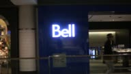 Signage and interiors of a Bell Canada Inc store in Toronto Ontario Canada on Wednesday June 22 2016 Shots shot of Bell signage inside window as...