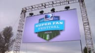 ATMOSPHERE Signage and location at DIRECTV Continues To Dominate Super Bowl Week With First Ever DIRECTV Super Fan Festival Night One on January 28...