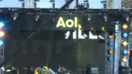 ATMOSPHERE signage at AOL NewFronts 2016 at Seaport District NYC on May 03 2016 in New York City
