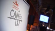 ATMOSPHERE signage at Food Bank For New York City CanDo Awards Dinner 2017 at Cipriani Wall Street on April 19 2017 in New York City