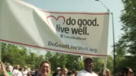 signage at the 13th Annual EIF Revlon Run/Walk For Women at New York NY