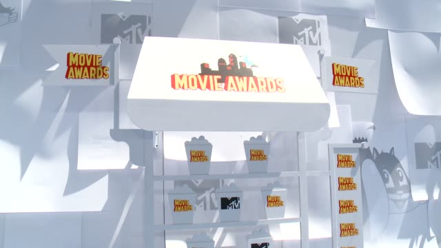 ATMOSPHERE signage at the 2015 MTV Movie Awards at Nokia Theatre LA Live on April 12 2015 in Los Angeles California