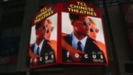 ATMOSPHERE signage at the 'Focus' Los Angeles Premiere at TCL Chinese Theatre on February 24 2015 in Hollywood California