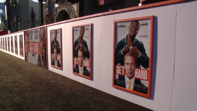 ATMOSPHERE signage at the 'Get Hard' Los Angeles Premiere at TCL Chinese Theatre on March 25 2015 in Hollywood California