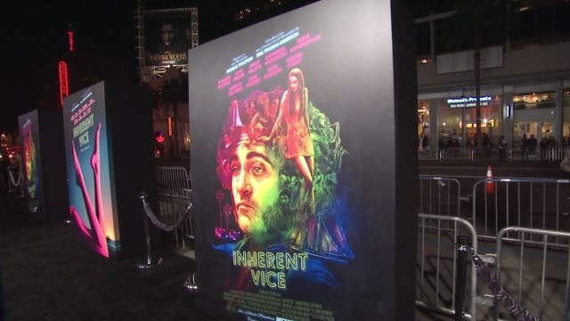 ATMOSPHERE signage at the 'Inherent Vice' Los Angeles Premiere at TCL Chinese Theatre IMAX on December 10 2014 in Hollywood California