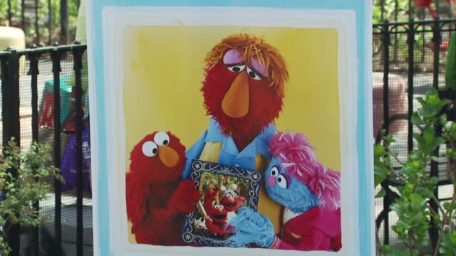 Signage at the Katie Couric and Sesame Street Muppets When Families Grieve at New York NY
