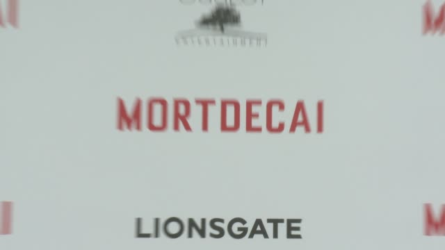 ATMOSPHERE signage at the 'Mortdecai' Los Angeles Premiere at TCL Chinese Theatre on January 21 2015 in Hollywood California