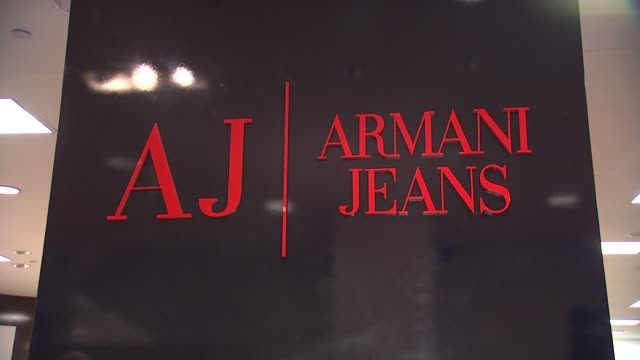 signage at the Rafael Nadal Unveils His New Armani Jeans Campaign at New York NY