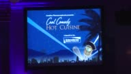Signage at the Scleroderma Research Foundation's 'Cool Comedy Hot Cuisine' at Beverly Hills CA