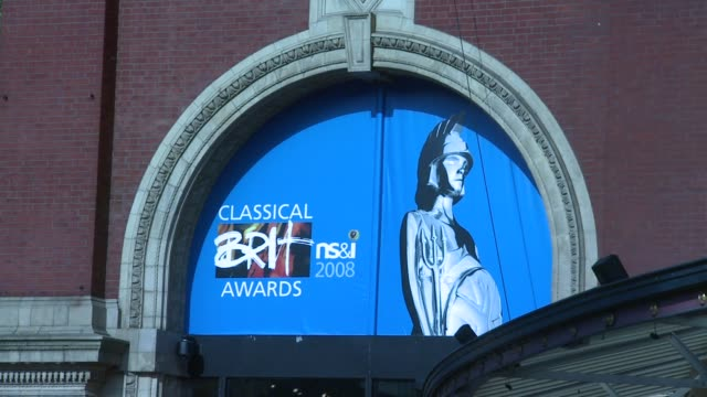 Signage at the The Classical Brits Awards 2008 at the Royal Albert Hall in London on May 8 2008