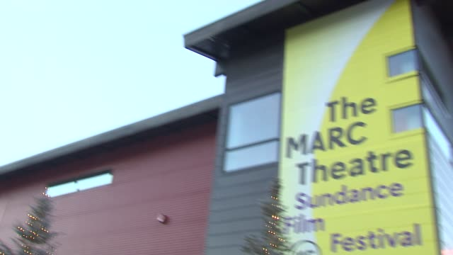 ATMOSPHERE signage at 'True Story' Premiere Sundance Film Festival 2015 at The Marc Theatre on January 23 2015 in Park City Utah