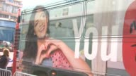 ATMOSPHERE signage at Unleash YouTube Event Stars Michelle Phan Rosanna Pansino And Bethany Mota at 404 Event Space on April 23 2014 in New York City