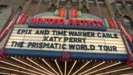 ATMOSPHERE Signage at World Premiere Screening Of Katy Perry The Prismatic World Tour at The Theatre at Ace Hotel Downtown LA on March 26 2015 in Los...