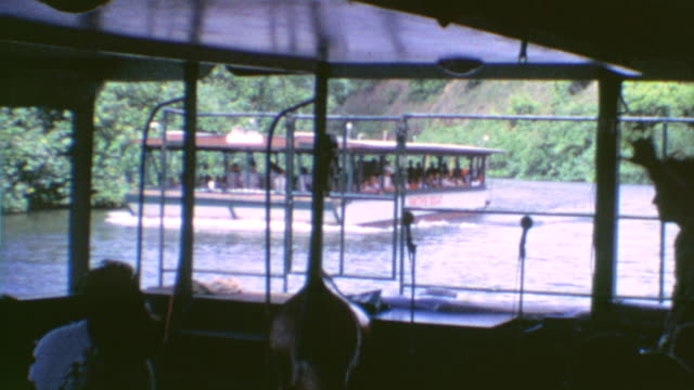 Signage for Marina / Smiths Boat Dock / Live Band of Boat / Navigating the River / Wailua River Marina on August 01 1975 in Kauai Hawaii